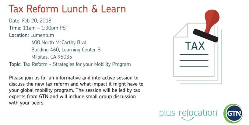 Tax Reform Lunch and Learn